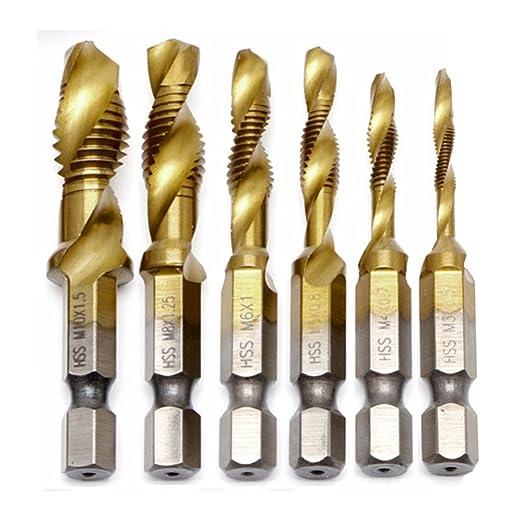 14 opinioni per JTENG 6 pezzi punte trapano Maschi Countersink Tap Drill Bit HSS Imposta