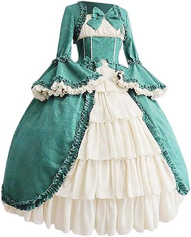 Fossenfeliz Disfraz Bruja Mujer Gotico Disfraces Medievales Princesa Reina Vestidos De Fiesta Mujer Tallas Grandes De Halloween Amazon Es Ropa Y Accesorios
