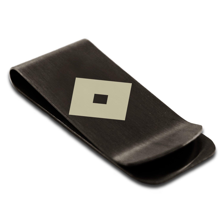 Stainless Steel Miyoshi Samurai Crest Engraved Money Clip Credit Card Holder