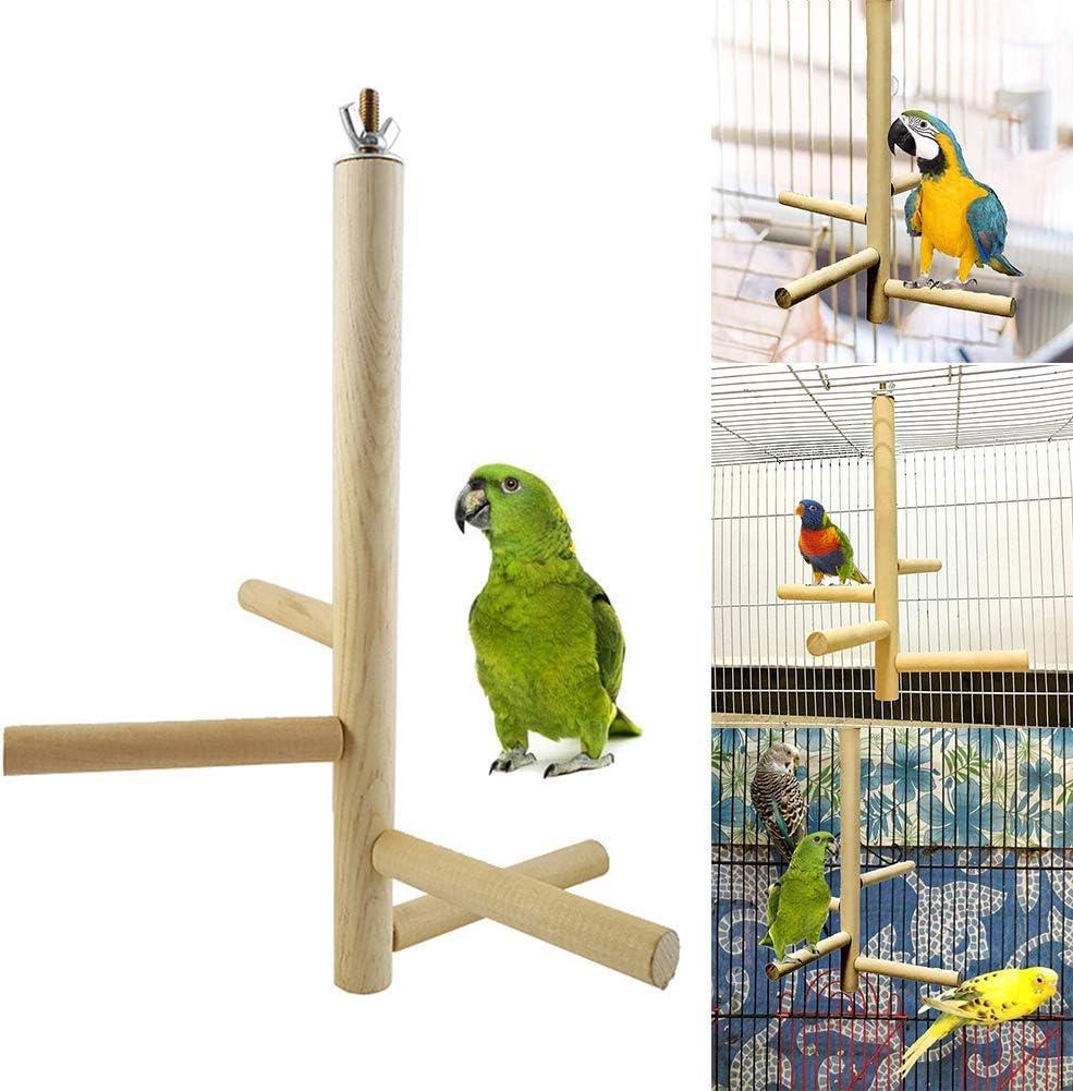 Oce180anYLV - Soporte Giratorio de Madera para Colgar 4 escaleras, Jaula de Juguete para Masticar: Amazon.es: Productos para mascotas