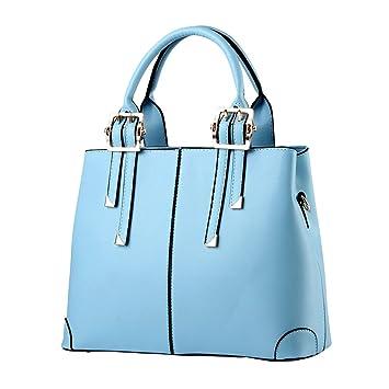 c531b808ae ZiXing Femmes Sacs à Main Sac en Cuir Grand Sacs bandoulière Et Sacs portés  épaule Bleu