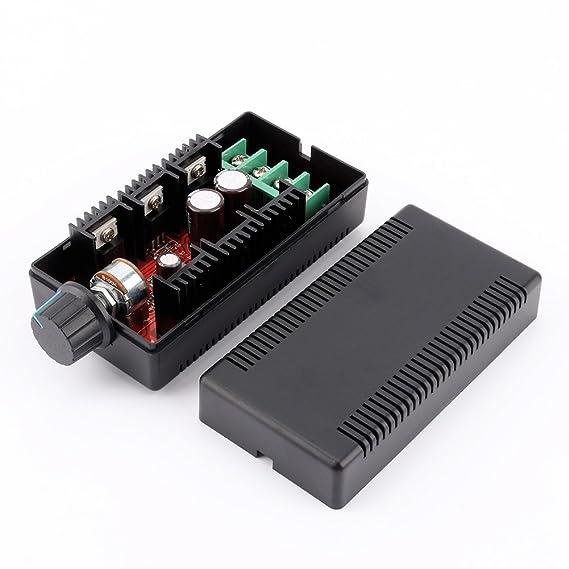 ZJchao - Radiocontrolador de velocidad de motor PWM HHO 10 - 50 V 40 A 2000 W MAX: Amazon.es: Bricolaje y herramientas
