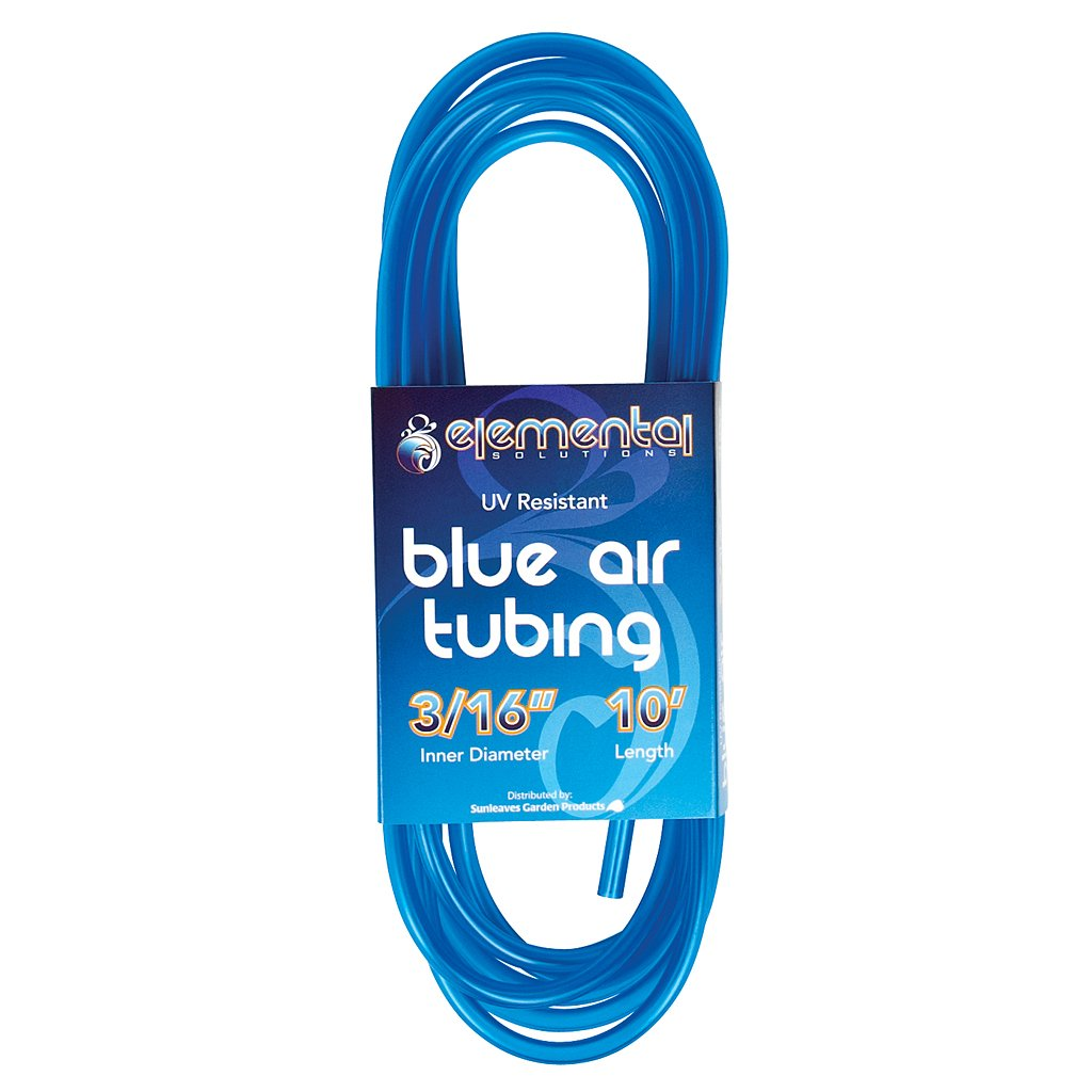 Elemental O2 bluee Air Tubing 3 16, 10' by Elemental Solutions