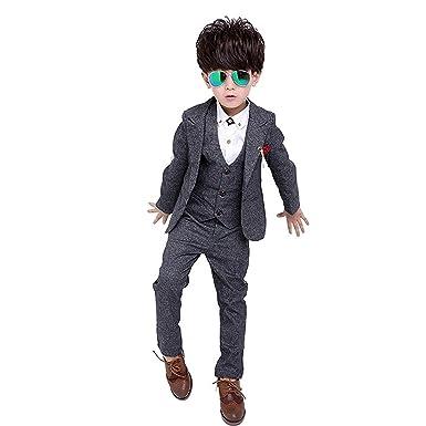 1dbeb27383ca1 子供スーツ 子供 男の子 フォーマル ジャケット ベスト ズボン 3点セット 子供服 洋服 キッズ フォーマル