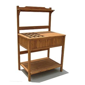 Amazoncom Merry Garden Potting Bench with Recessed Storage