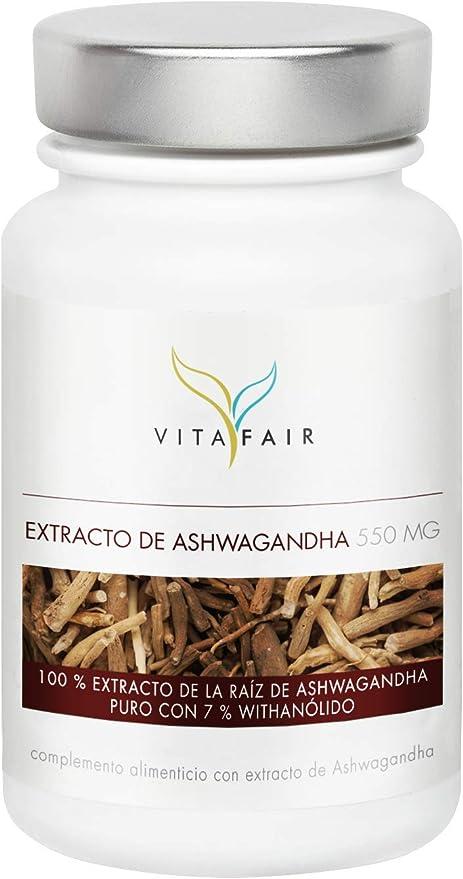 Extracto de Ashwagandha | 1650 mg por porción | 90 cápsulas | 7% de withanólidos