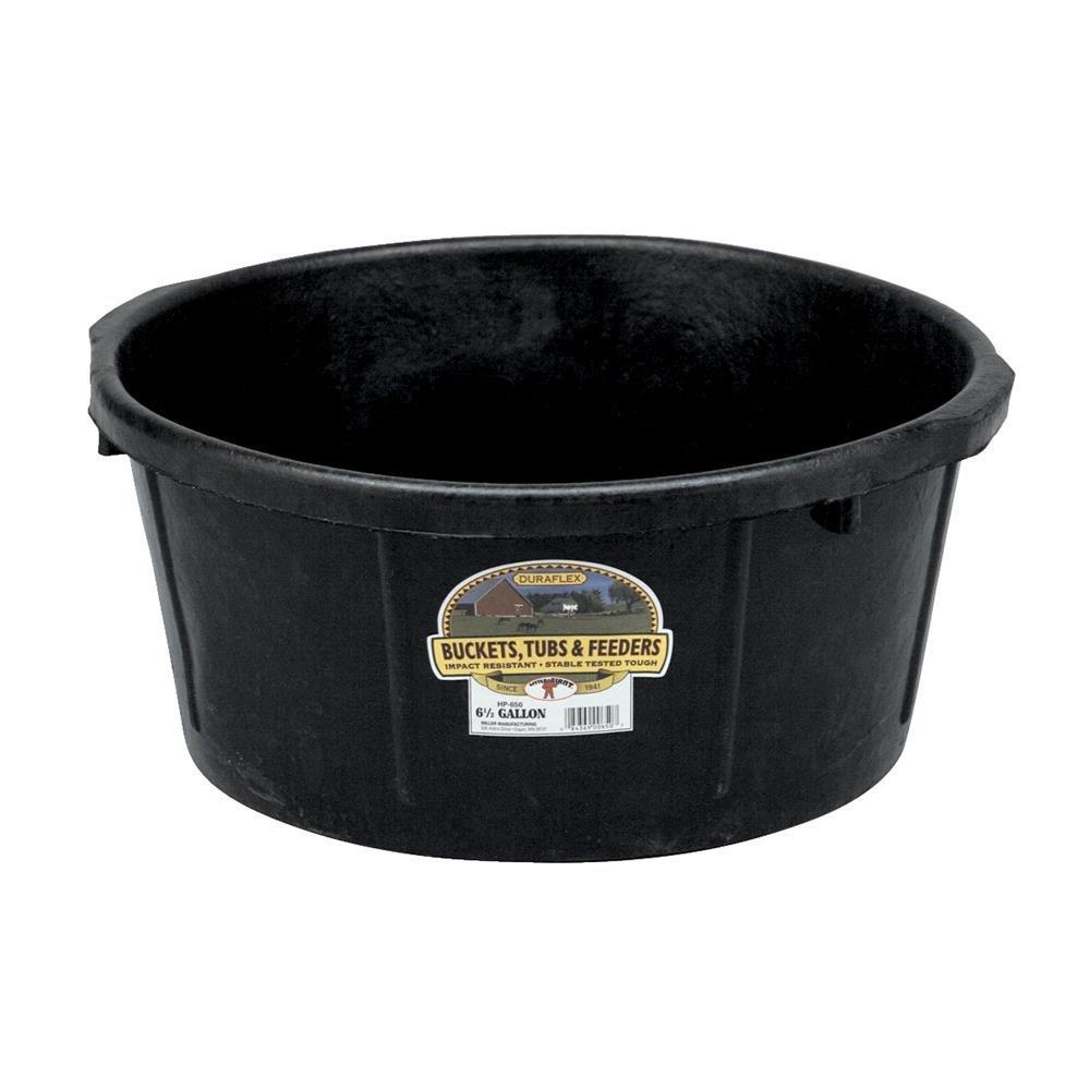 MILLER CO All Purpose Tub, 6.5 gallon, Black
