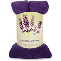 Zhu-Zhu Lavender Body Wrap - Microwavable Wheat Bag - Purple Fleece - Soothing Hot Pack Heat Therapy