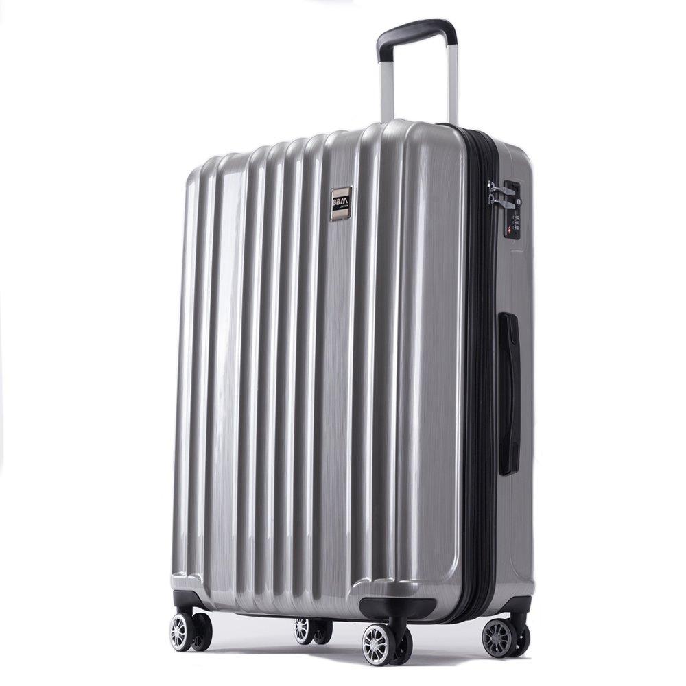 AKTIVA スーツケース 軽量 ファスナー TSAロック搭載ハードケース B075TF5WBK 中型、Mサイズ|ブラッシュシルバー ブラッシュシルバー 中型、Mサイズ