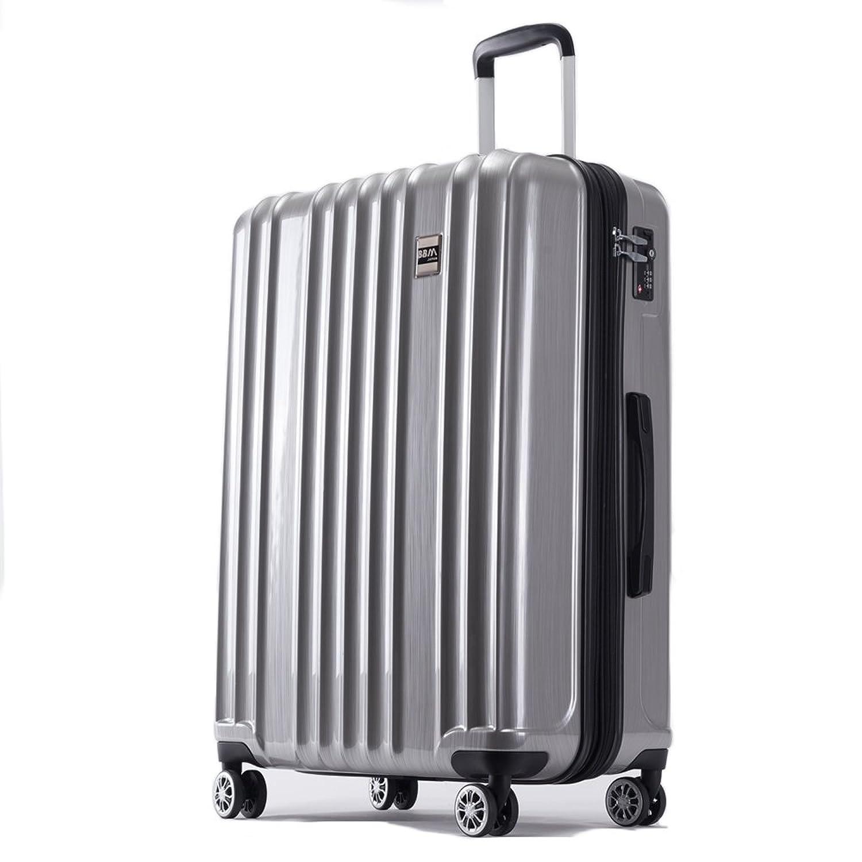 AKTIVA スーツケース 軽量 ファスナー TSAロック搭載ハードケース B075T5CMD4  ブラッシュシルバー 大型、Lサイズ