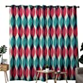 NUOMANAN Living Room Curtains Vintage,Vertical Curves with Grunge Effect Old Weathered Looking Overlapping Waves Pattern,Multicolor,Adjustable Tie Up Shade Rod Pocket Curtain
