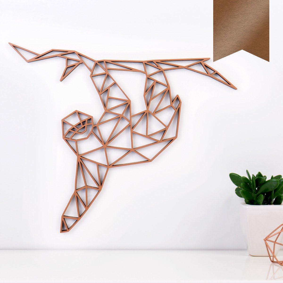 - Kupfer KLEINLAUT 3D-Origamis aus Holz 30 x 25,2 cm Faultier L W/ähle EIN Motiv /& Farbe