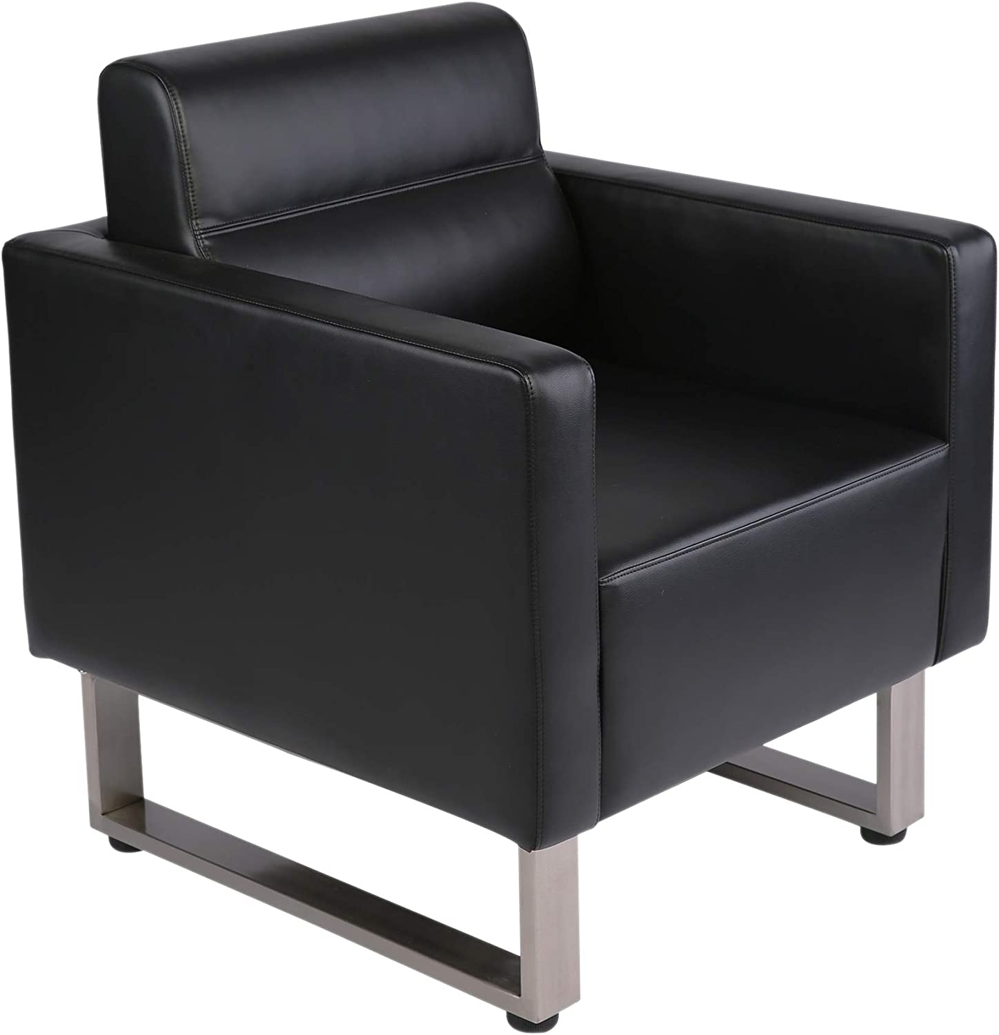 Amazon.com: LuckyerMore Guest Chair Office Reception Chair Leather