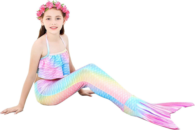 Kokowaii Fancy Girls Swimming Mermaid Kids Mermaid Tails for Swimming Girls Swimwear