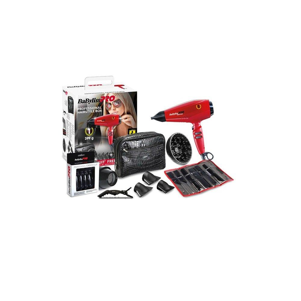 BABYLISS p1035e Pro Kit secador Ferrari rapido Rojo