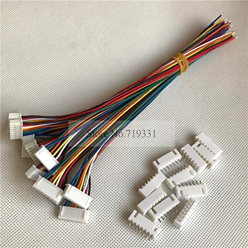 Gimax 50sets MIni XH 2.5mm 7pin Cable 2.5 7-Pin Connector plug Male Female Connector W. Wire