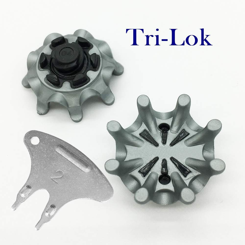 LONGKUN Fast Twist 3.0 Golf Shoe Spikes Tri-Lok Golf Spikes Replacement,(Tooth Height: 5MM) Golf Shoe Cleats Golf Spikes Easy to Install for Golf Shoes(1 Set Incloud 28 PCS) by LONGKUN