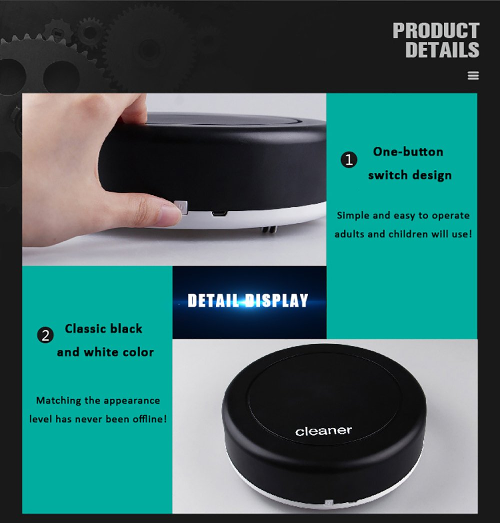 Smart Robot Vacuum Cleaner Auto Floor Dust Dirt Cleaning Robot 360-degree Rotation Sweeping Machine Home Cleaning Tool by HSTYAIG (Image #6)