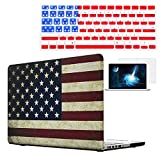 Rinbers-3in1-New-Fashion-Design-Cut-OffCut-Out-LOGO-USAAmerican-Flag-Rubberized-Hard-Shell-Sleeve-Cover-CaseSilicone-Keyboard-CoverScreen-Protector-for-Apple-MacBook-Pro-15-154-Inch-with-CD-ROM-Non-Re