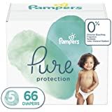 Diapers Size 5, 66 Count - Pampers Pure Disposable Baby Diapers, Hypoallergenic and Unscented Protection, Giant Pack