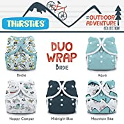 Thirsties Package, Snap Duo Wrap, Outdoor Adventure Collection Birdie Size 2
