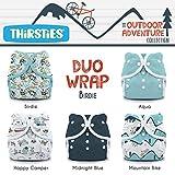 Thirsties TDWPSOACBi1 Package Snap Duo Wrap Outdoor Adventure Collection, Birdie, Size One (6-18-pound)