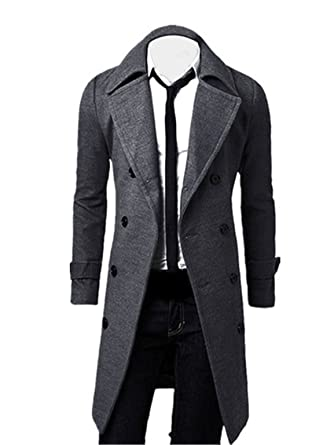 Mantel herren lang baumwolle