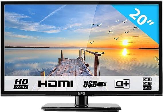 """HKC 20C1NB 20"""" (50.80cm) LED TV (Full-HD 1920X1080, TRIPLE TUNER, DVB-T/T2/C/S/S2, H.265 HEVC, CI+, Mediaplayer via USB [Energy Class A]: Amazon.es: Electrónica"""
