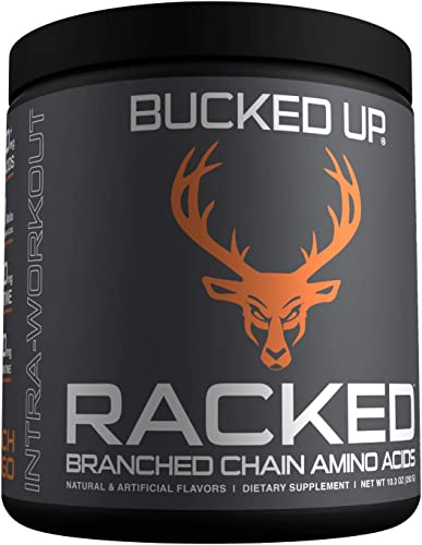 RACKED Branch Chained Amino Acids L-Carnitine, Acetyl L-Carnitine, GBB BCAAs That You Can Feel Powder, 30 Servings Peach Mango