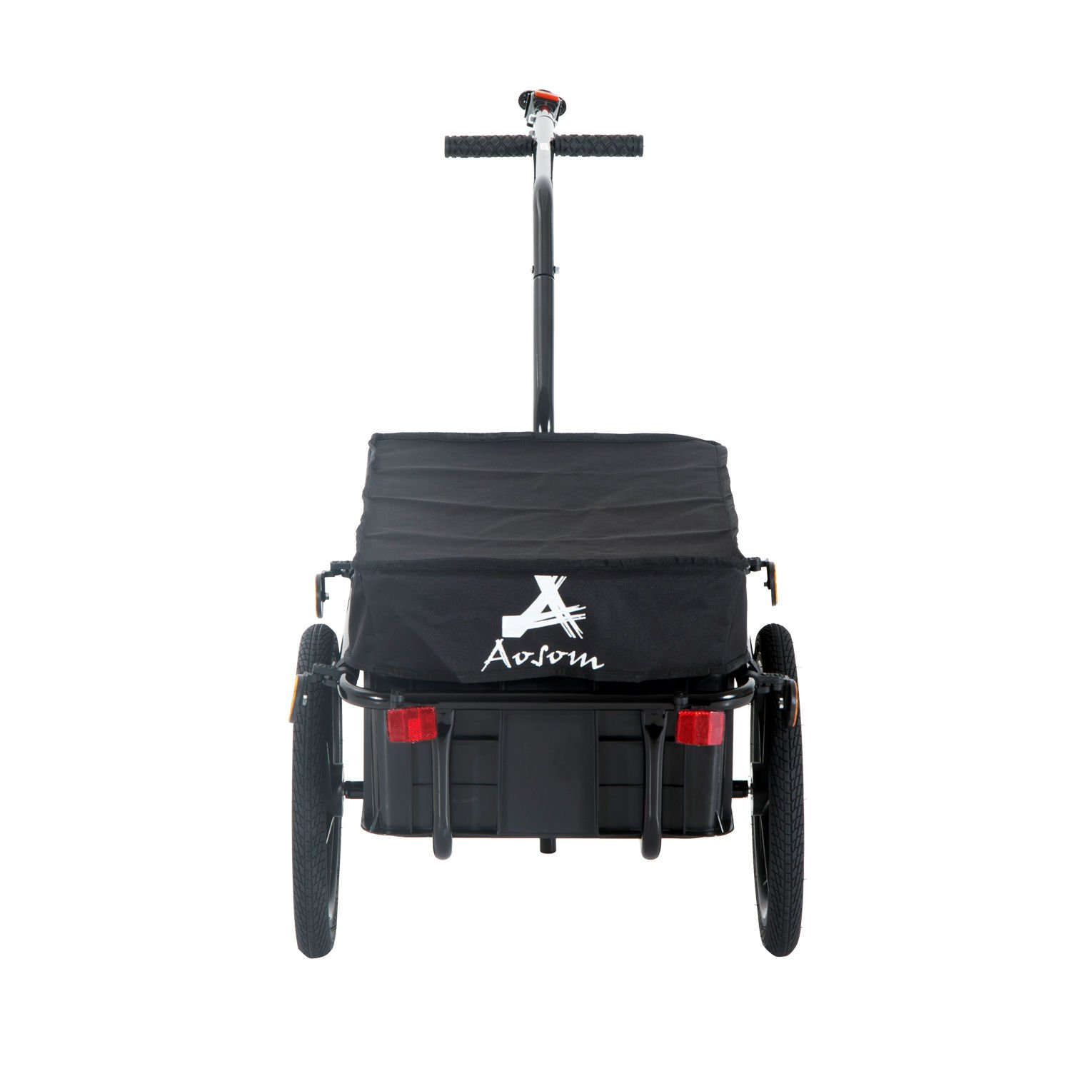 Aosom Enclosed Bicycle Cargo Trailer - Black by Aosom (Image #7)