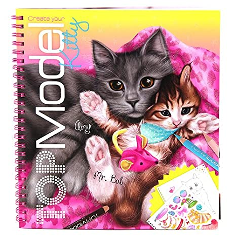 Top Model 046671 A Create Your Kitty Livre De Coloriage Chats