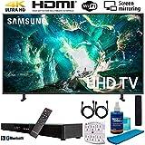 Samsung UN55RU8000 55' RU8000 LED Smart 4K UHD TV (2019) w/Soundbar Bundle Includes, Deco Gear Home Theater Surround Sound 31' Soundbar, Screen Cleaner, 2X HDMI Cable and 6-Outlet Surge Adapter