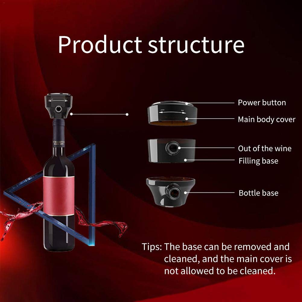 Beer Bubbler Decanter Red Wine Fast Electric Sober ABS Food Grade Plastic Innovative Aerator by TGX
