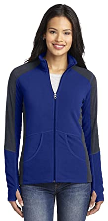 Port Authority Women's Colorblock Microfleece Jacket at Amazon ...
