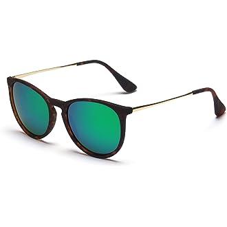 18fd0a73f4  1 SUNGAIT Vintage Round Sunglasses for Women Classic Retro Designer Style