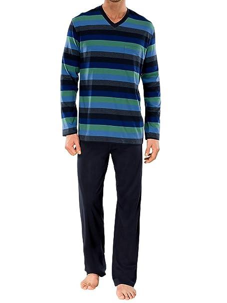 Amazon.com: Schiesser Juego de pijama de hombres largo traje ...