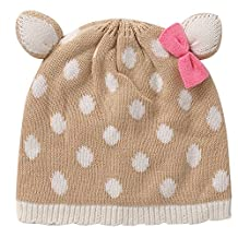 E.mirreh Deer Animal Baby Infant Toddler Warm Winter Beanie hat Girl
