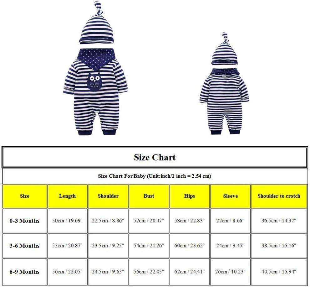 Sombrero baberos mameluco reci/én nacidos bebes ropa para beb/és nacido Romper ropa mu/ñeca largos ropa de ni/ño de la manga