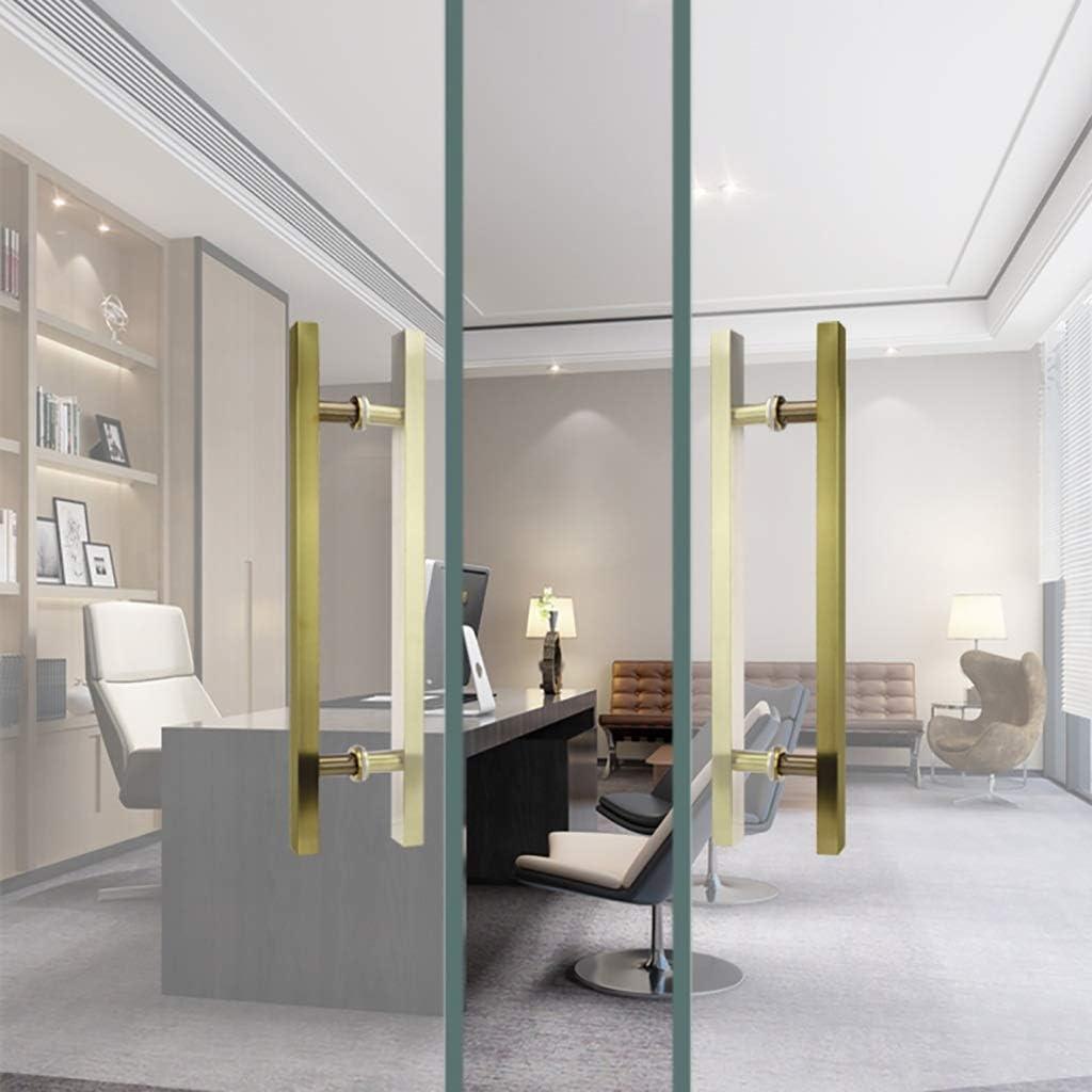 XLAHD Manija de la Puerta de la Ducha del baño, manija de Puerta de Empujar-Tirar de Acero Inoxidable Moderno Simple/manija de Puerta de Vidrio/manija de Puerta de Madera 60 * 40 cm: