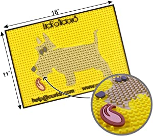 Our K9 : Lick Mat - Oral Hygiene Mat - Dog Teeth Cleaning - Dog Gum Care - Dog Lick Mat - Wet Food Slow Eating Feeding - Treat Mat