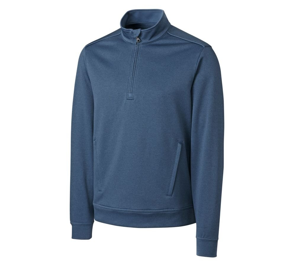 Cutter & Buck Men's CB Weather Tec Orbit Half-Zip, Flux, Small