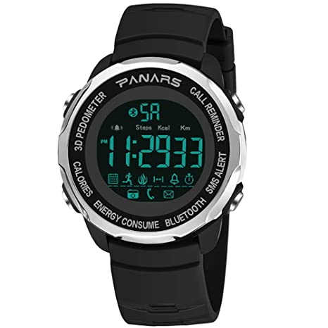 Gskj Reloj Inteligente Bluetooth Inteligente Reloj Deportivo Hombres 3D Podómetro Ip68 A Prueba De Agua Reloj