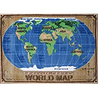 Fun Rugs TSC-153 3147 World Map Accent Rug, 31-Inch 47-Inch