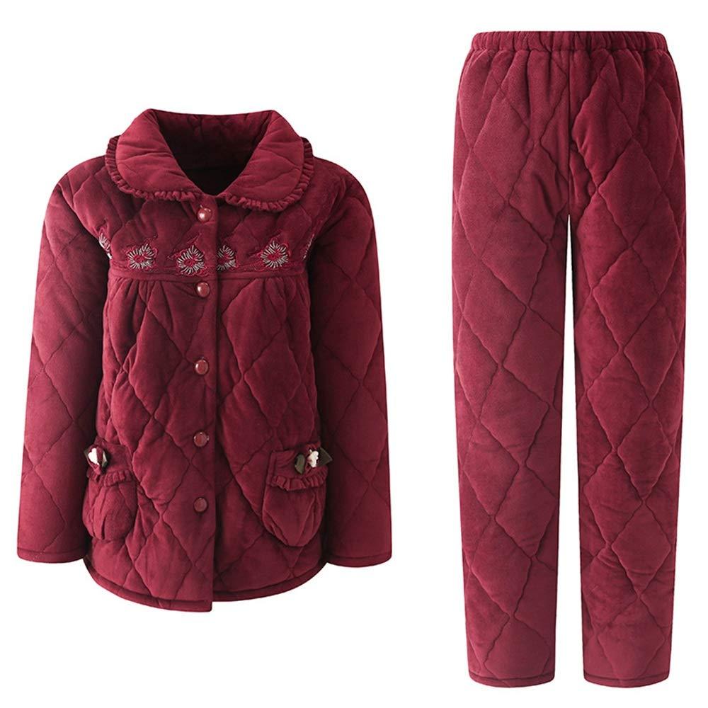 Women's Sleepwear Super Soft Fleece 2Piece Pajamas Set (Size   M)
