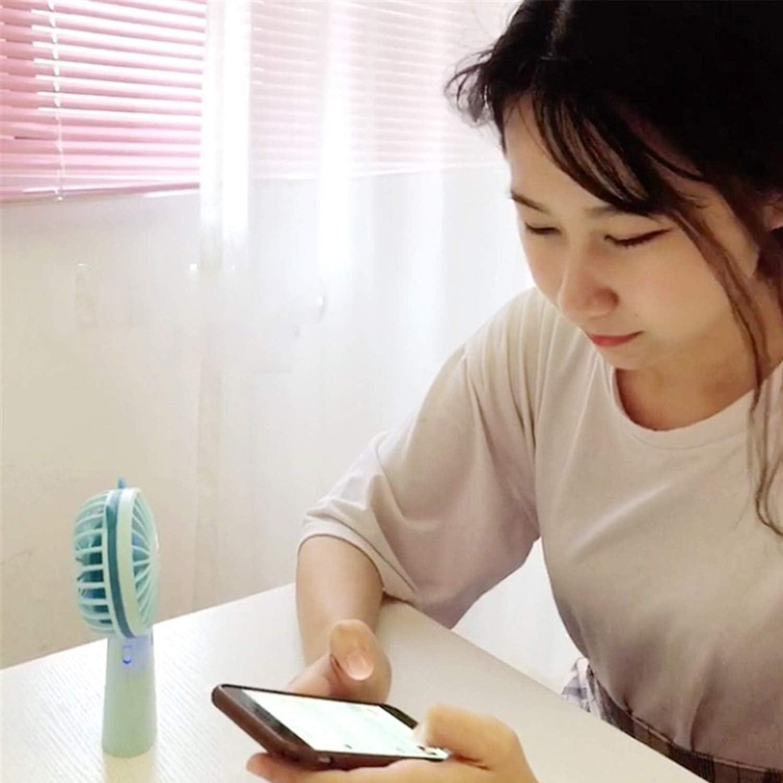 Color : Blue 02 Office Outdoor Travel Shengjuanfeng USB Fans Handheld Portable Handheld USB Small Fan Outdoor Small Table Fan Mini Electric Fan for Home
