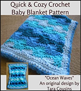 Quick Cozy Crochet Baby Blanket Ocean Waves Cute Kids Crochet