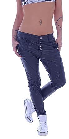 Style-Station Damen Boyfriend Jeans Kunstleder Hose Baggy Haremshose Chino  XS 34 S 36 M 38 L 40 XL 42  Amazon.de  Bekleidung fca9d2c9a1