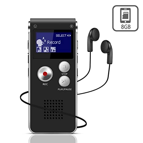 Digital Voice Recorder Unterhaltungselektronik 8 Gb Aufladbare Lcd Screen Digital Audio Sound Voice Recorder Diktiergerät Mp3 Player Anruf Aufnahme Gerät StraßEnpreis
