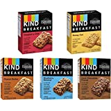 Kind, Breakfast Bars, Variety 5 Box (8ct ea): Dark Chocolate Cocoa, Honey Oat, Peanut Butter, Raspberry Chia, Blueberry Almond