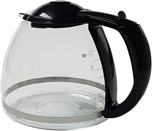 Jarra de cristal negra para cafeteras Bosch Siemens TKA14 TKA28 ...